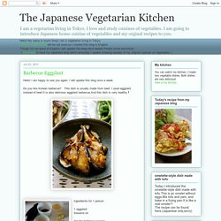 The Japanese Vegetarian Kitchen: Barbecue Eggplant