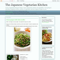 The Japanese Vegetarian Kitchen: 06/2011