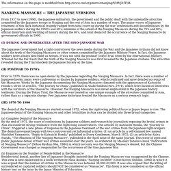 Japanese version of Nanjing Massacre