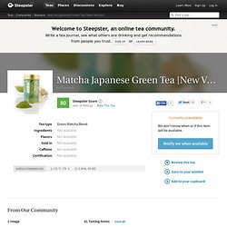 Matcha Japanese Green Tea [New Version] Tea by Teavana