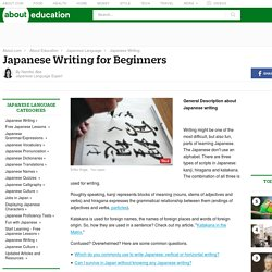 Japanese Writing for Beginners