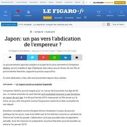 Japon: un pas vers l'abdication de l'empereur ?