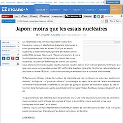 Japon: moins que les essais nucléaires