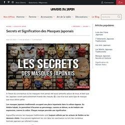 Masque Japonais : Origines et Secrets