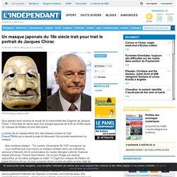 Un masque japonais du 18e siècle trait pour trait le portrait de Jacques Chirac