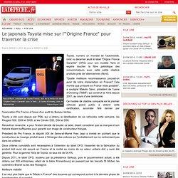 """Le japonais Toyota mise sur l'""""Origine France"""" pour traverser la crise - 16/05/2013 - LaDépêche"""