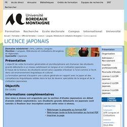 Licence Japonais