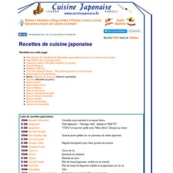 Recettes faciles de cuisine japonaise - CuisineJaponaise.be