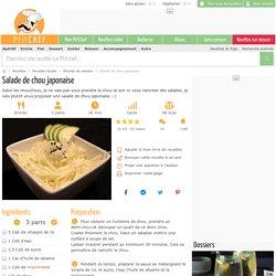 Salade de chou japonaise, Recette Ptitchef