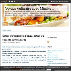 Sauces japonaises: ponzu, sauce au sésame (gomadare) - Voyage culinaire avec Mimisan