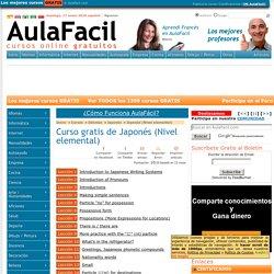 Curso Gratis de Japonés (Nivel elemental) - Índice de lecciones