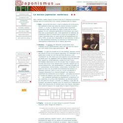art de vivre japonais - Maisons et intérieurs au Japon: Matériaux