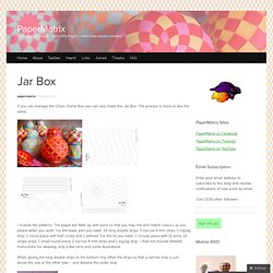 Jar Box « PaperMatrix