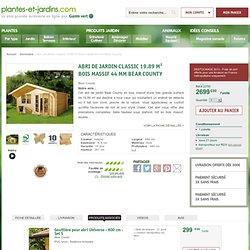 Abri de jardin Classic 19.89 m² bois massif 44 mm