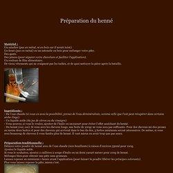 Le Jardin d'Isa et No - Preparation Henne