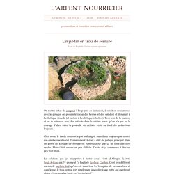 Un jardin en trou de serrure