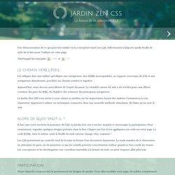 Jardin Zen css: La beauté de la conception CSS