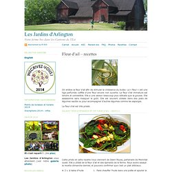 Les Jardins d'Arlington · Fleur d'ail – recettes