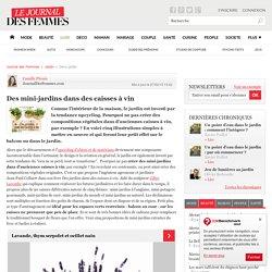 Des mini-jardins dans des caisses à vin - Journal des Femmes