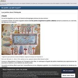Antiquité Egypte. Fragment de paroi peinte de la tombe de Nebamon. Vers 1300 avant J.C.,