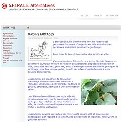 JARDINS PARTAGES | S.P.I.R.A.L.E. Alternatives