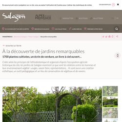 Les jardins remarquables de Salagon dans les Alpes de Haute Provence