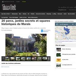 20 parcs, jardins secrets et squares historiques du Marais