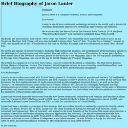 Jaron Lanier's Bio