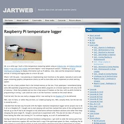 Raspberry Pi temperature logger