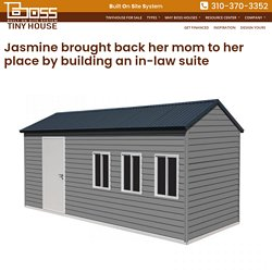Jasmine brought back her mom to her place by building an in-law suite – Boss Tiny House