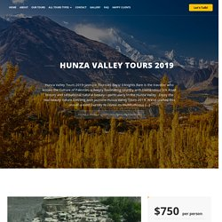 Hunza Valley Tours 2019-Jasmine Tours Trekking And Expeditions