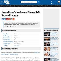 Jason Blaha's Ice Cream Fitness 5x5 Novice Program