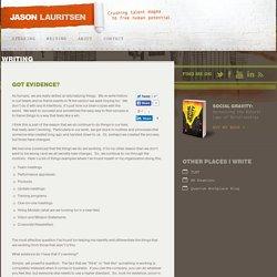 Jason Lauritsen » Got Evidence?