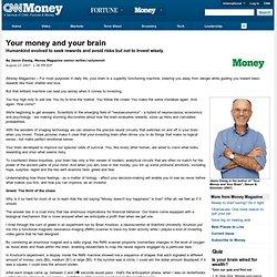 Jason Zweig, Money Magazine: Your money and your brain - Aug. 23, 2007