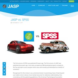JASP vs. SPSS - JASP - Free Statistical Software