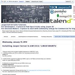 Installing Jasper Server In AWS EC2 / LINUX/UBUNTU