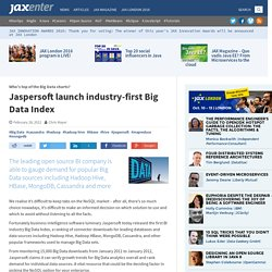 Jaspersoft launch industry-first Big Data Index