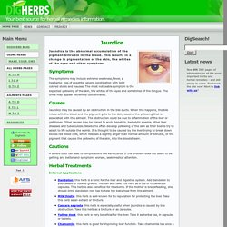 Jaundice - many herbs can be taken to aid the liver and reduce the symptoms.