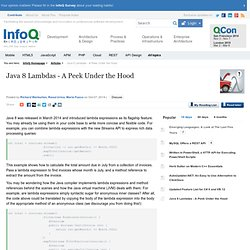 Java 8 Lambdas - A Peek Under the Hood