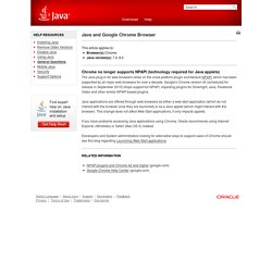 Java and Google Chrome Browser