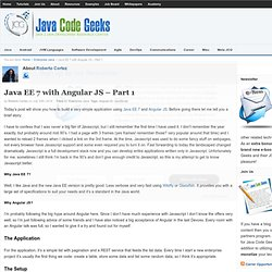 Java EE 7 with Angular JS – Part 1