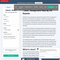Help With Java Assignment By Java Experts