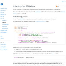Java Core API - Dropbox