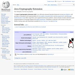 Java Cryptography Extension