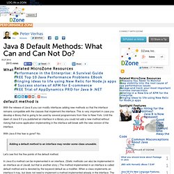 Java 8 Default Methods: What Can and Can Not Do?