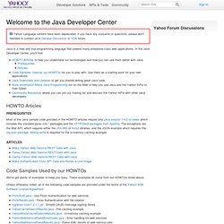 Yahoo ReST - Java Developer Center