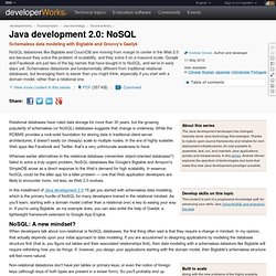 Java development 2.0: NoSQL