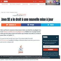 Java SE a le droit à une nouvelle mise à jour