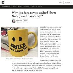 Why is a Java guy so excited about Node.js and JavaScript?