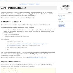 Java Firefox Extension